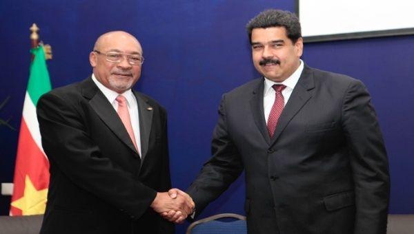 Bouterse en Maduro