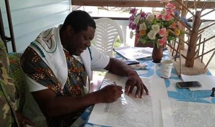 Granman Aboikoni is nog steeds niet formeel ontvangen door de nieuwe regering.Foto: NII